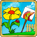 Baby coloring apps:the flowers icon