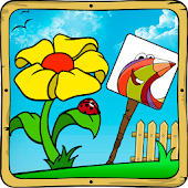 Baby coloring apps:the flowers