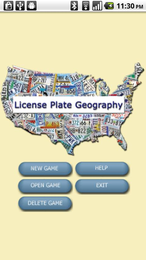 License Plate Geography- screenshot