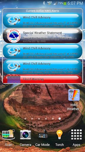 NWS Weather Alerts Widget