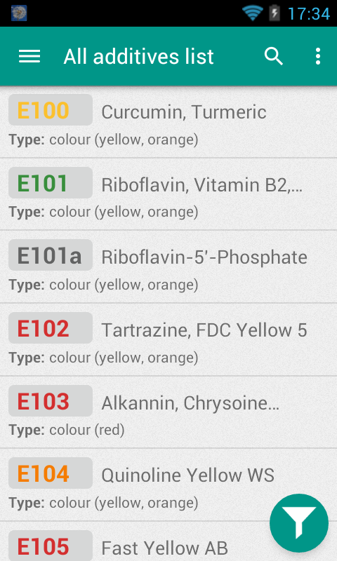 Eat Informed - Food Additives - screenshot