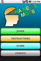 Screenshot of Chaine de Mots