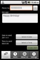Screenshot of Textalert Free - SMS Reminder