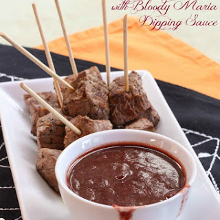 Steak Bites with Bloody Maria Dipping Sauce