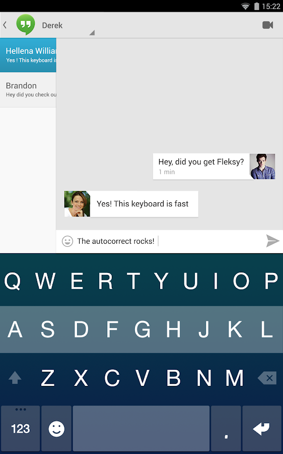 Fleksy + GIF Keyboard Free - screenshot