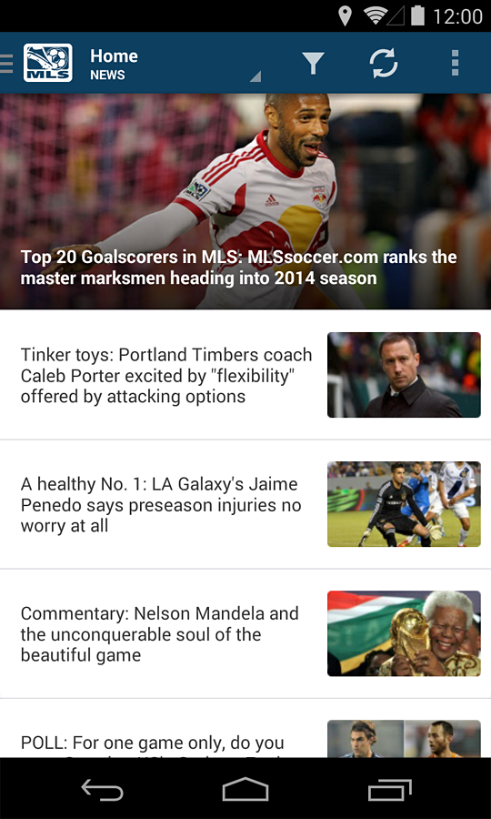MLS Matchday - screenshot
