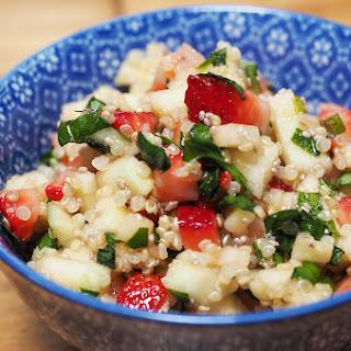 Strawberries, Green Apples Quinoa Salad