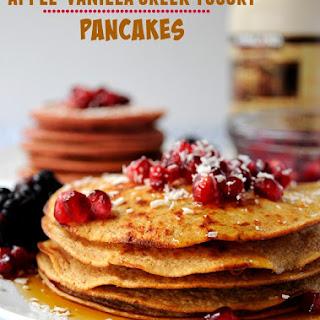 Apple Vanilla Greek Yogurt Pancakes