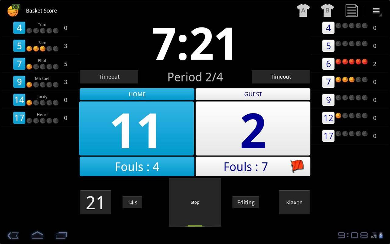 Basketball Score Demo - screenshot