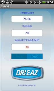 Dri-Eaz GPP Calculator- screenshot thumbnail