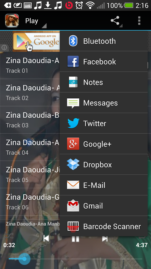 Zina Daoudia Mp3 - screenshot