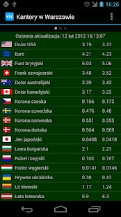 Currency exchange in Warsaw- screenshot thumbnail