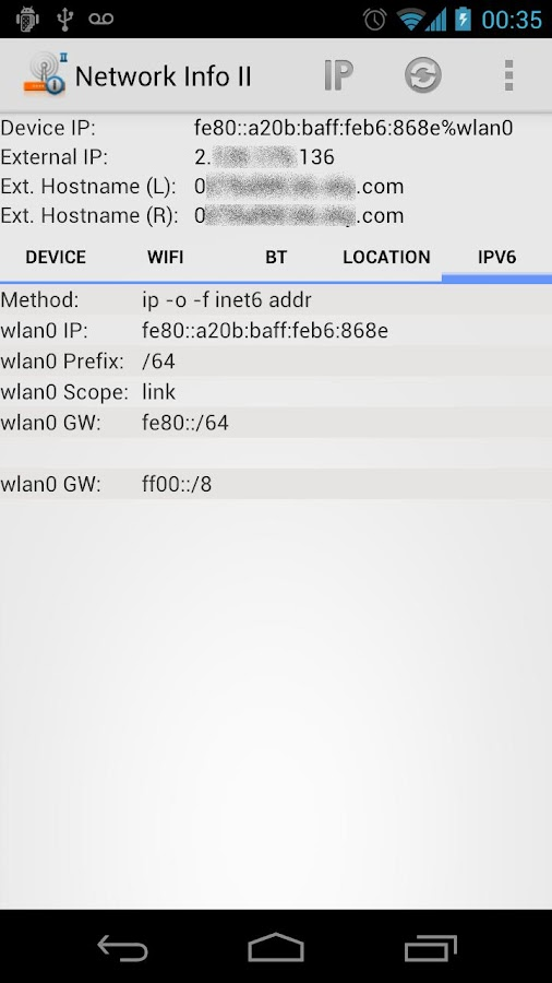 Network Info II- screenshot