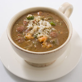 Shrimp and Andouille Gumbo.