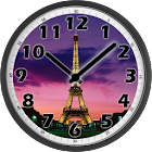 Tour Eiffel Afternoon Clock icon
