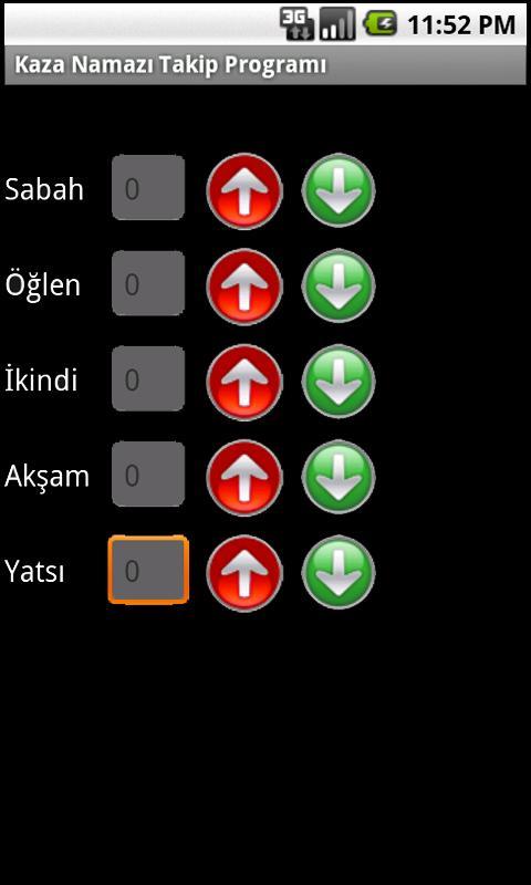 Kaza Namazı Takip Programı- screenshot