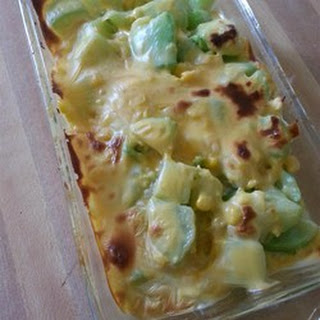 Chayote with Egg and Cheese.