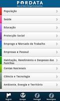 Screenshot of Pordata