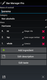 Bar Manager - Cocktail App- screenshot thumbnail