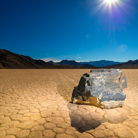 Rockstar! by Adam Collins - Landscapes Deserts ( death valley, desert, mud flats, sailing stones, sunstar, racetrack )