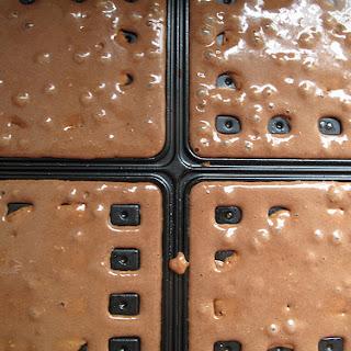 Chocolate and Cardamom waffles.