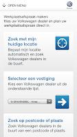 Screenshot of Volkswagen Service app
