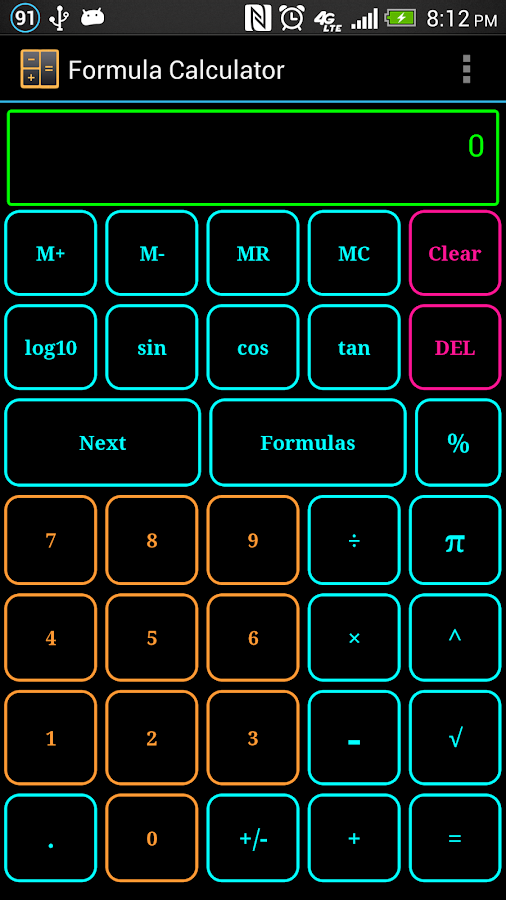 Formula Calculator Free - screenshot