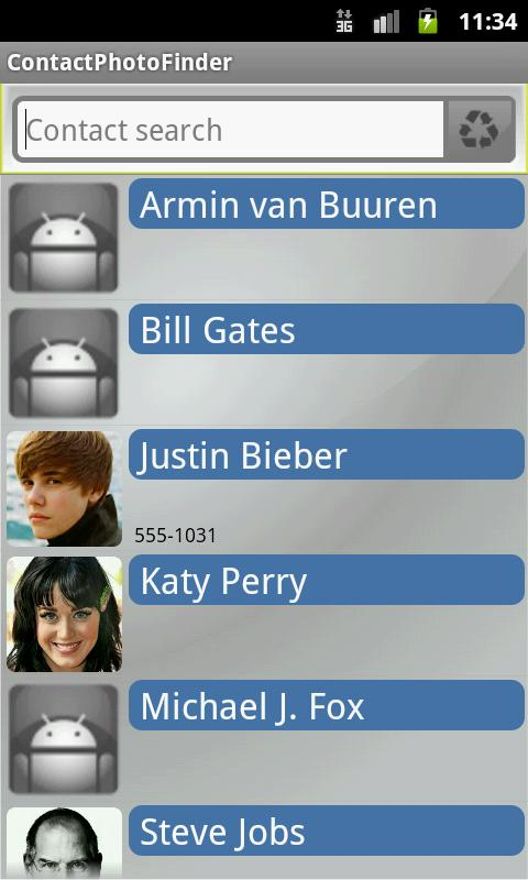 Contact Photo Finder - screenshot