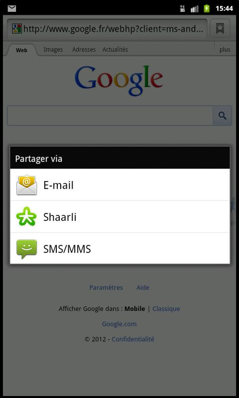 Shaarli- screenshot