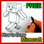 how to draw minecraft