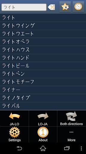 Japanese Lao dictionary