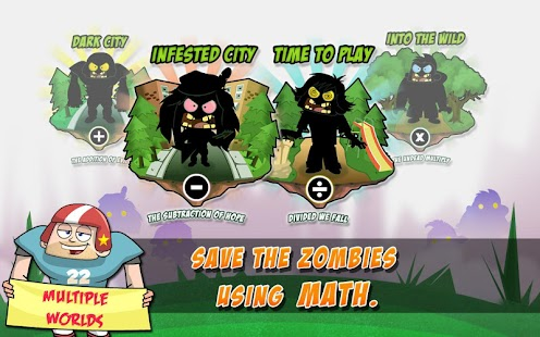 Math Vs Zombies Free: miniatura de captura de pantalla