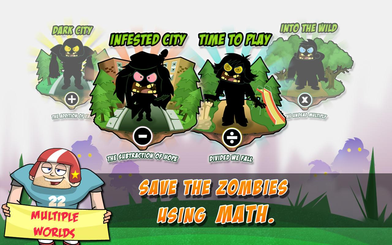 Math Vs Zombies Free- screenshot
