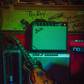 Amps & Gear by H. Ava-Lyn Smith - Artistic Objects Musical Instruments ( oil water artt photography, plan b lounge, bar show )