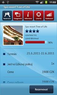 HOTELY cz Rezervace ubytování- screenshot thumbnail