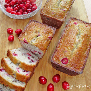 Cranberry Banana & Pecan Mini Loaves.