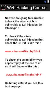 玩免費書籍APP|下載Web Hacking Course. app不用錢|硬是要APP