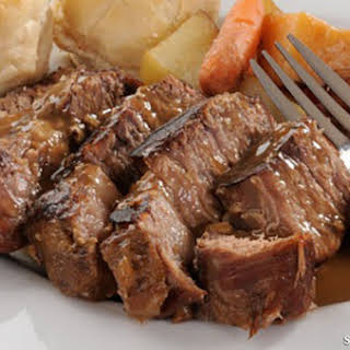 Garlic and Herb Beef Roast and Potatoes.