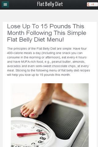 Weekly Flat Belly Diet