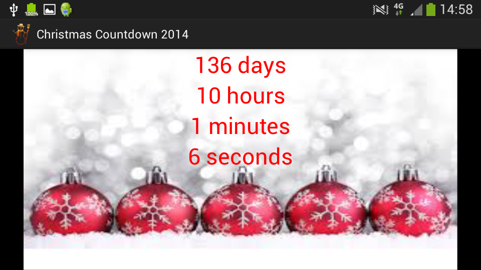 Christmas Countdown- screenshot