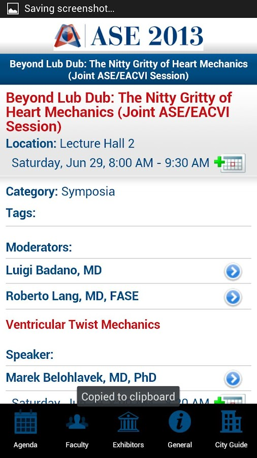 ASE Scientific Sessions - screenshot
