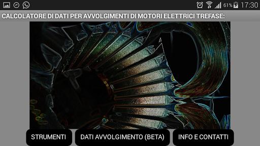 Dati per Motori elettrici