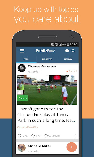 PublicFeed: Nearby Social News