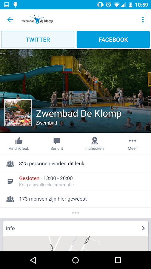 Zwembad De Klomp: screenshot