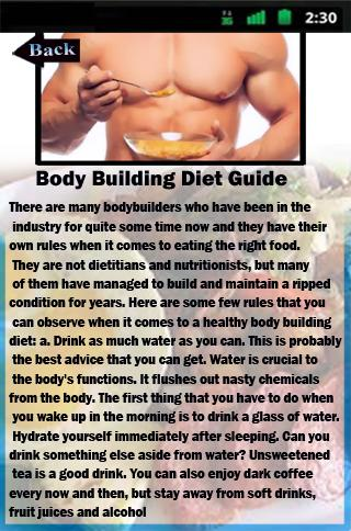 Body Building Diet Guide