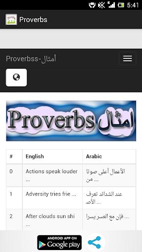 Proverbs English Arabic