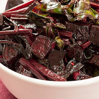 Roasted Beets with Sautéed Greens.