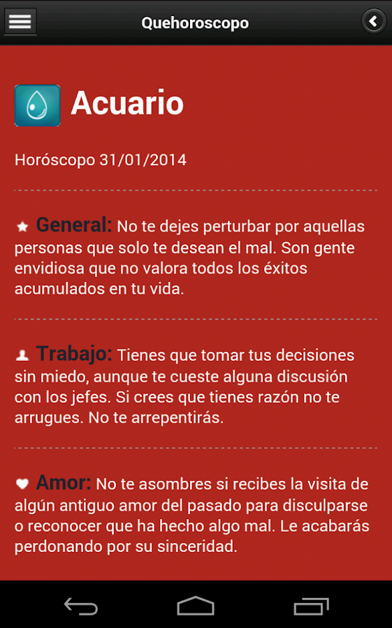 Horoscopo- screenshot