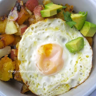 Sweet Plantain and Potato Hash.
