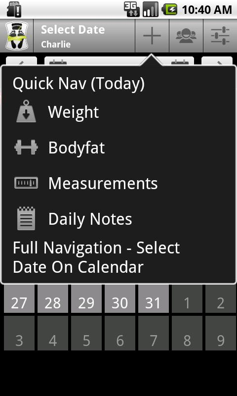 Body & Weight Monitor - screenshot